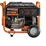 Generac 5978 GP7500E 7500 Running Watts/9375 Starting Watts Electric Start Gas Powered Portable Generator - CSA Compliant