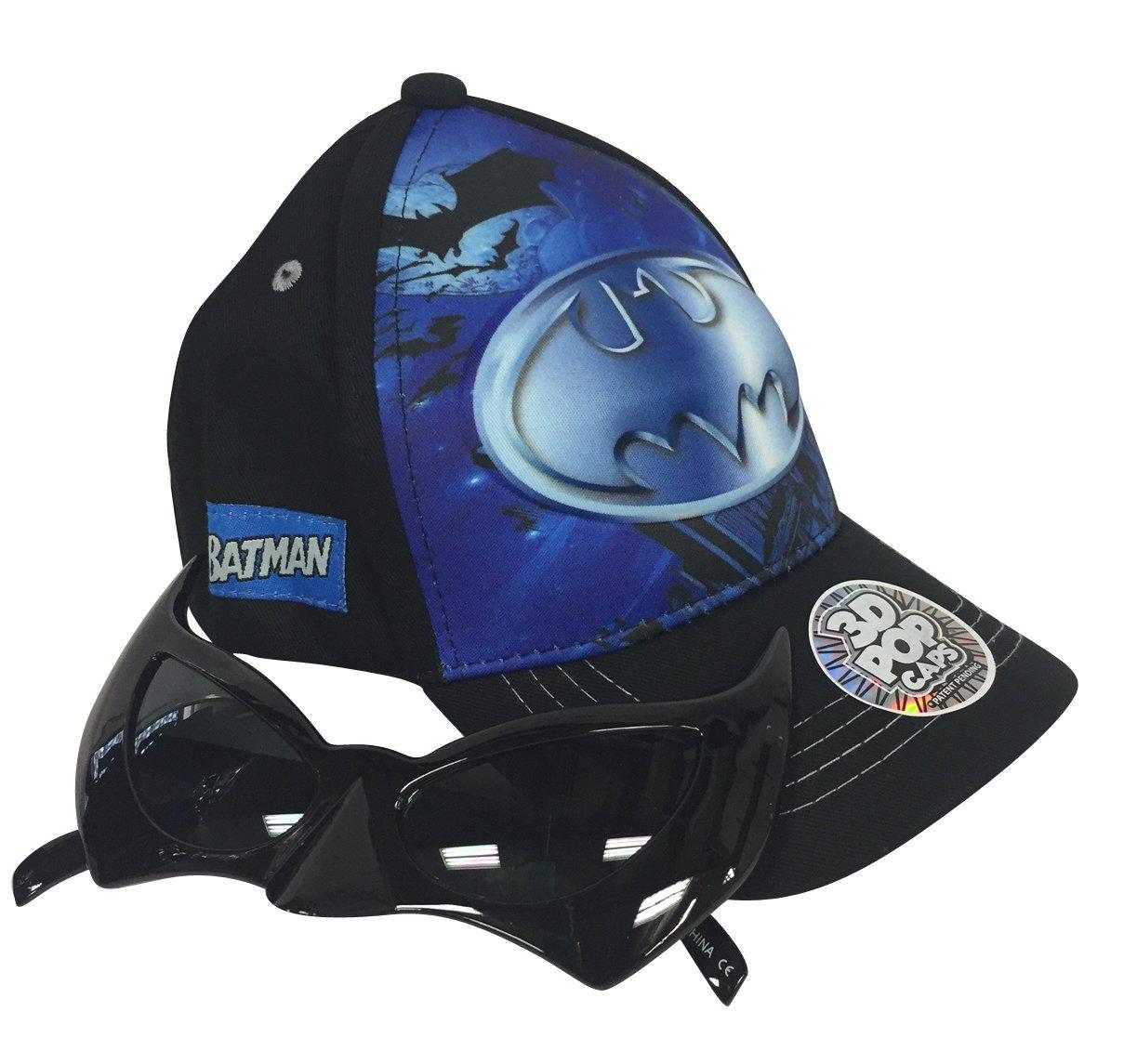 Batman 3D Pop up Adjustable Baseball Cap and Batman Sunglasses Set by Colorful Items