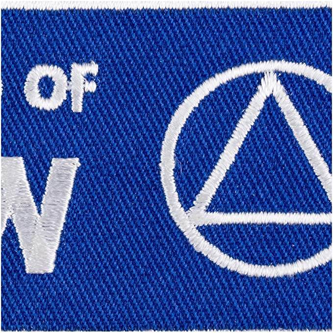 Alcoholics Anonymous AA Choose Colors Sew On Biker Patch I/'M A FRIEND OF BILL W