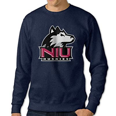 101Dog Northern Illinois University Mens Pullover-sweaters Navy