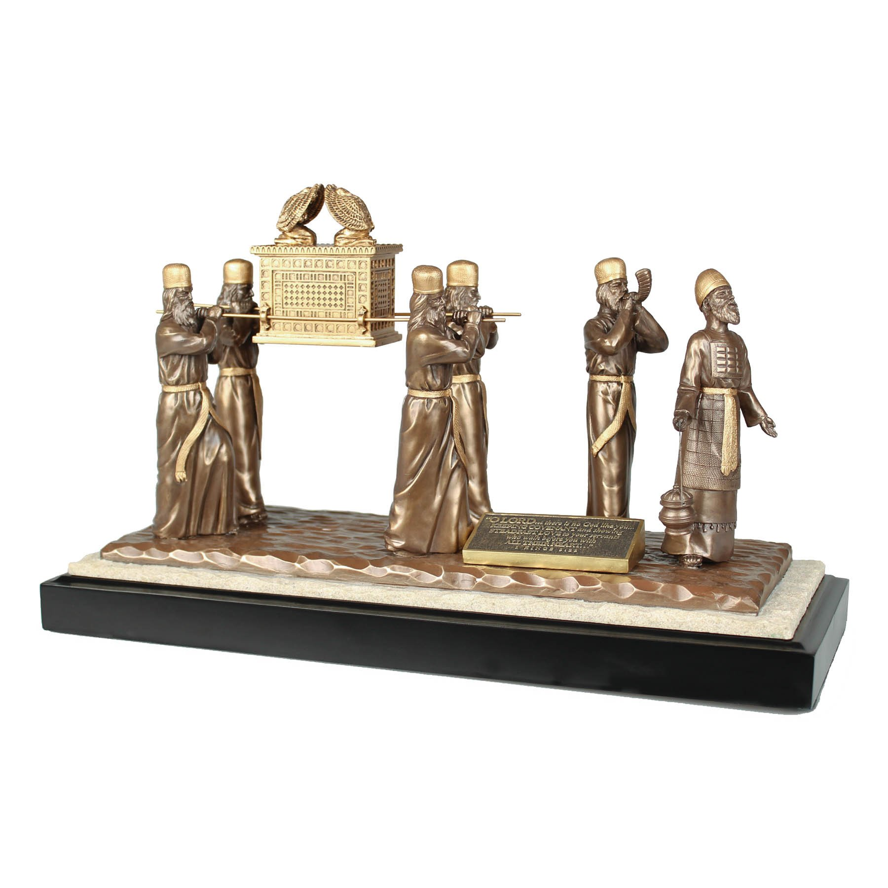 Lighthouse Christian Products Moments of Faith Large Levites and Ark Sculpture, 13 3/4 x 8 1/2 x 5 3/4''