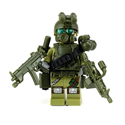 Battle Brick Custom Special Forces Commando (SKU27) Custom Minifigure: Toys & Games