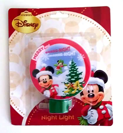 disney characters christmas night light mickey mouse