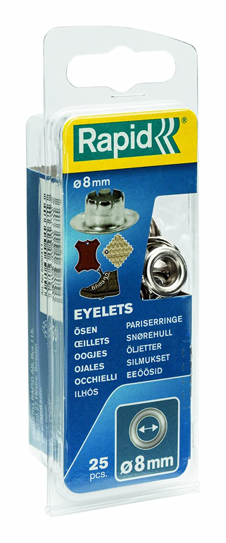 8 mm Set di occhielli 25 pezzi Rapid 5000411