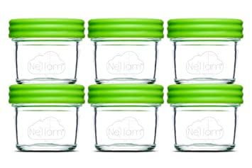 Nellam Baby Food Storage Containers U2013 Leakproof, Airtight, Glass Jars For  Freezing U0026 Homemade