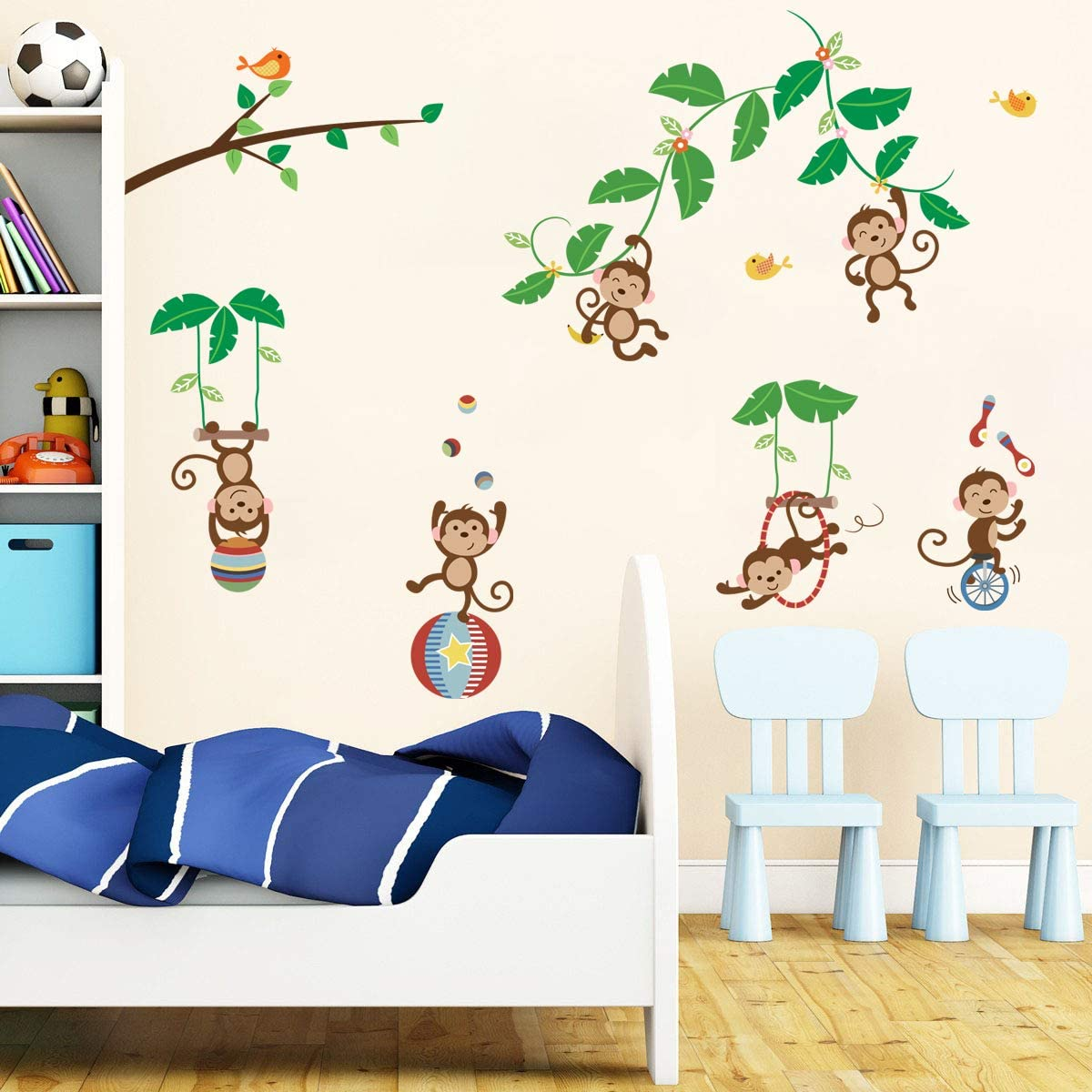 Nursery animal decals wall tree decal designed wall murals