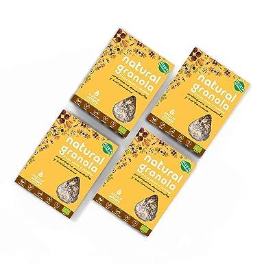 Granola Arándanos, Amaranto y Cardamomo - Natural Athlete - Desayuno con frutos secos y semillas - 100% Natural - BIO - Sin Gluten - Sin Lactosa - ...