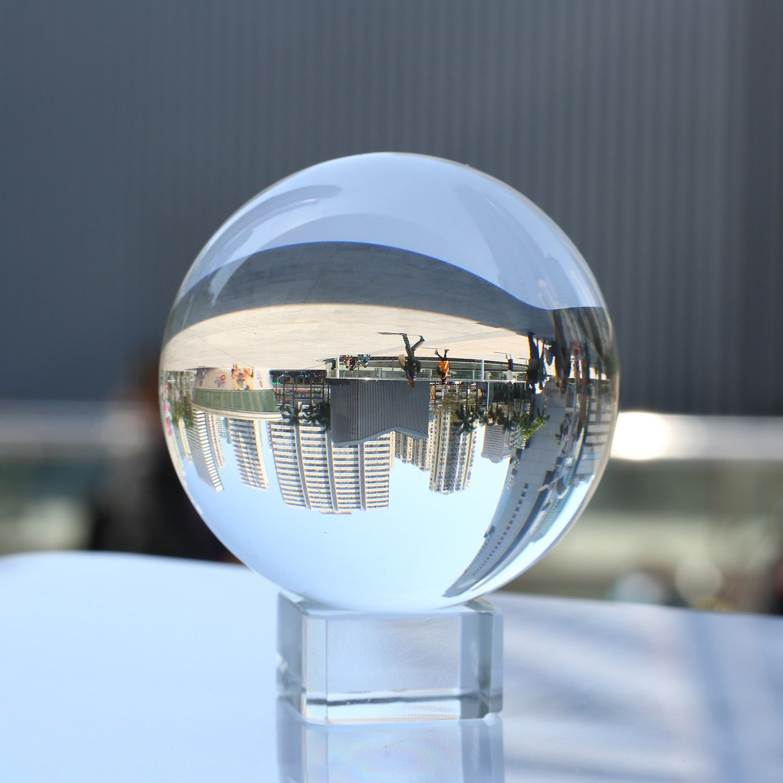 Neewer 透明水晶玉 グローブ 水晶台座付 150mm/5.9inch 風水占い/結婚式/ホーム/オフィス装飾に適用 B072M9SSGG150mm