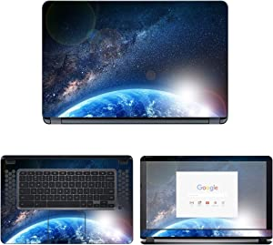 decalrus - Protective Decal Outer Space Skin Sticker for Acer ChromeBook CB3-532 (15.6
