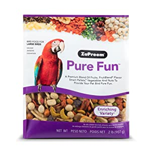ZuPreem Pure Fun Bird Food for Large Birds, 2 lbs – Best pellet food mix