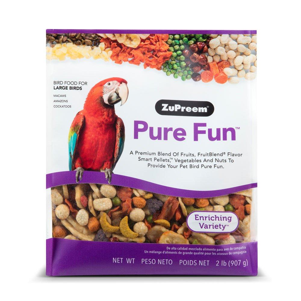 ZuPreem Pure Fun Bird Food Large Birds, 2 lbs. 762177380209