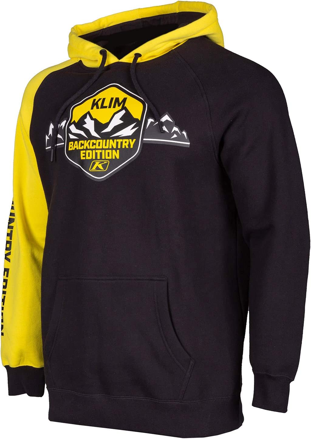 Yellow KLIM Backcountry Edition Hoodie 2X Black