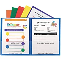 C-Line Classroom Connector School-to-Home Folders, Assorted Colors, 6 per Pack (32010)