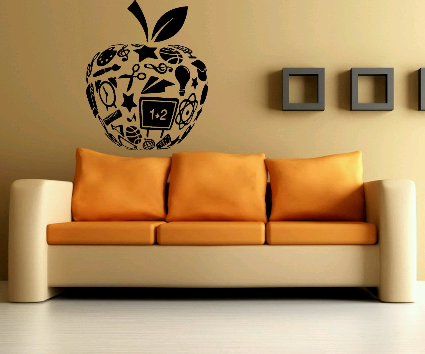Amazon Wall Decor Vinyl Sticker Room Decal Art School Apple