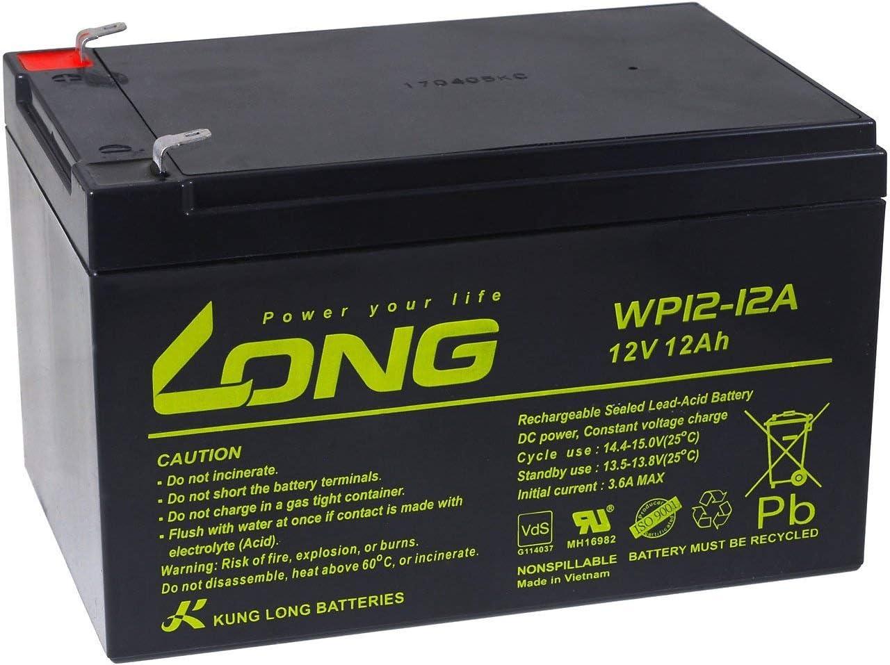 Powery KungLong Batería de Reemplazo para Sillas de Ruedas Scooter Eléctrico Vehículos Eléctricos 12V 12Ah