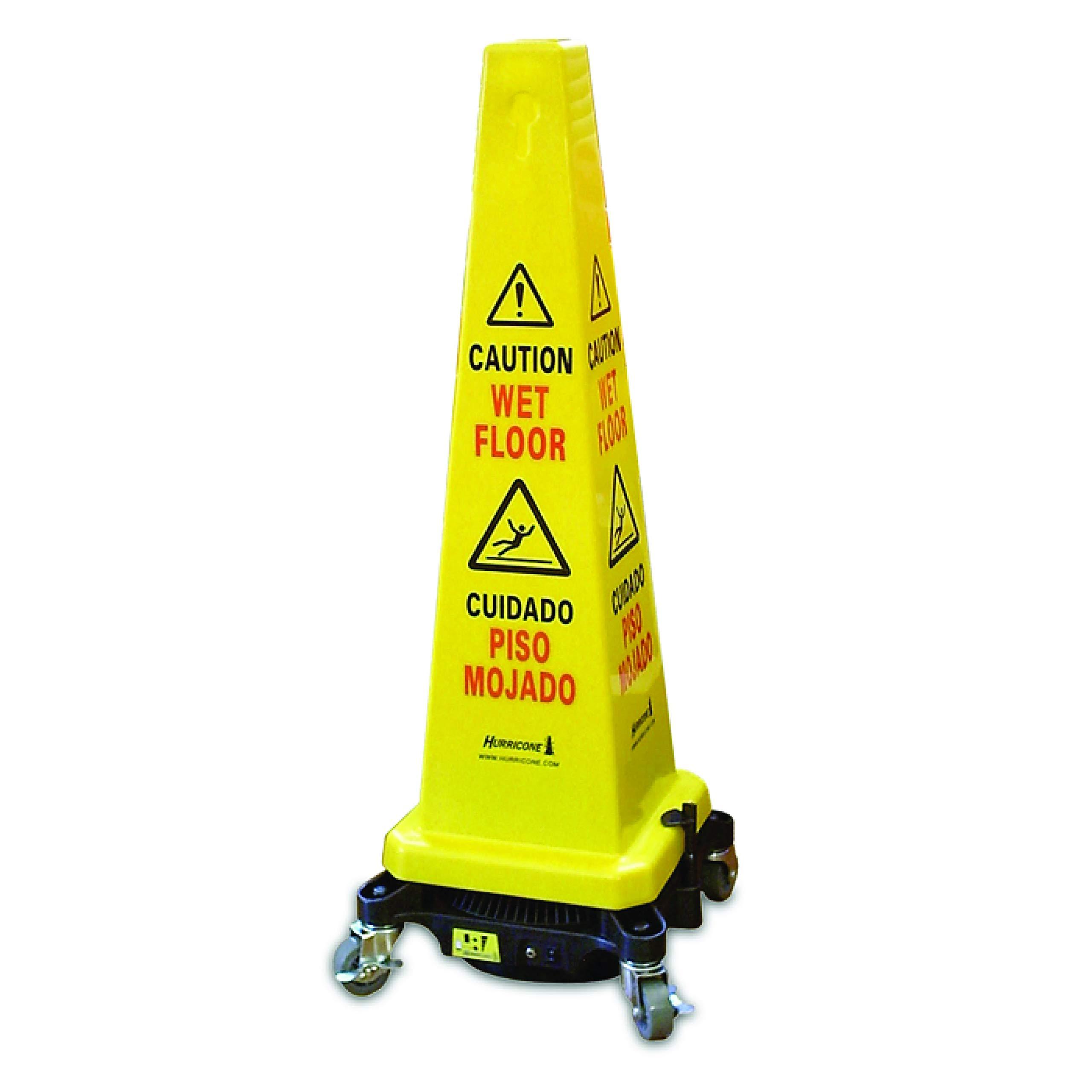Hurricone Floor Dryer & Safety Cone Hurricone Floor Dryer, Yellow