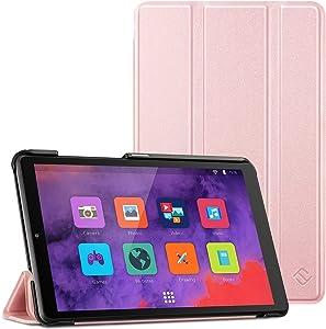 Fintie Case for Lenovo Tab M8 / Smart Tab M8 / Tab M8 FHD - Lightweight Slim Shell Stand Cover for Lenovo Tab M8-HD TB-8505F/TB-8505X 2019 8.0 Inch Tablet, Rose Gold