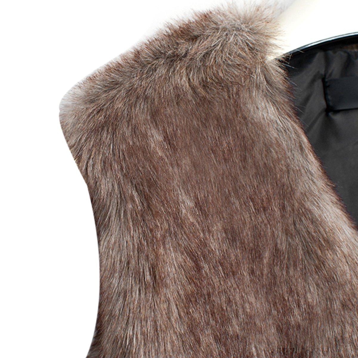 FUNOC Kids Baby Girls Faux Fur WaistCoat Fashion Short Vest Jacket Coat by FUNOC (Image #2)