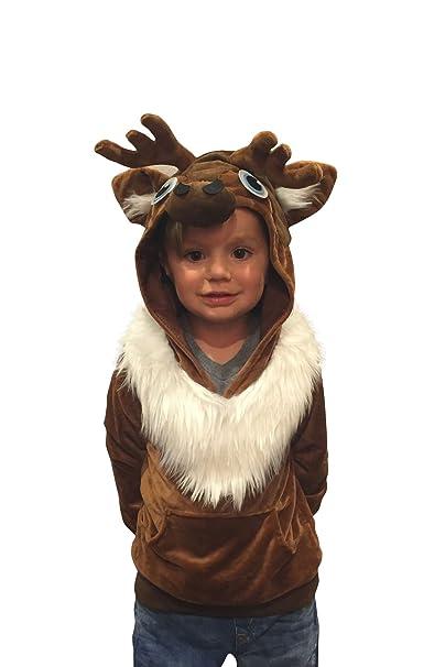 Comfycamper Sudadera Infantil Para Disfraz De Reno Sven Disfraz - Disfraz-reno