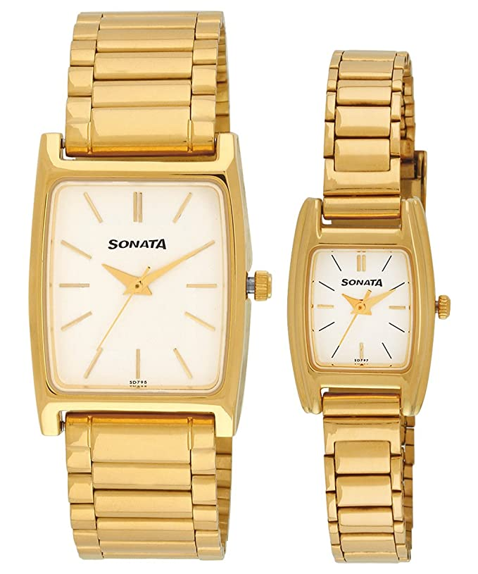 Pairs Analog White Dial Couple's Watch -NK70088014YM01