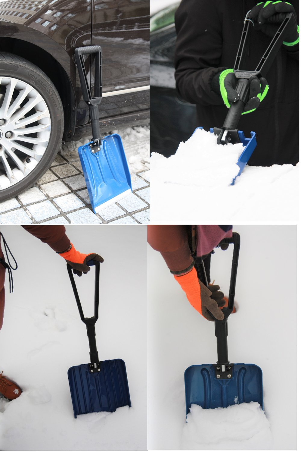 ORIENTOOLS Collapsible Folding Snow Shovel with Durable Aluminum Edge Blade (Blade 6'') by ORIENTOOLS (Image #7)