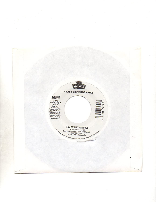 4 P. M. (For Positive Music) - Lay Down Your Love=b/w=Sukiyaki=7
