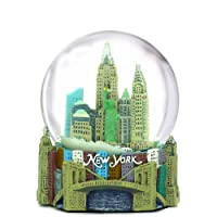 "Mini New York City Snow Globe NYC Skyline in this Souvenir Figurine with Statue of Liberty, 2.5"" Tall (45mm)"