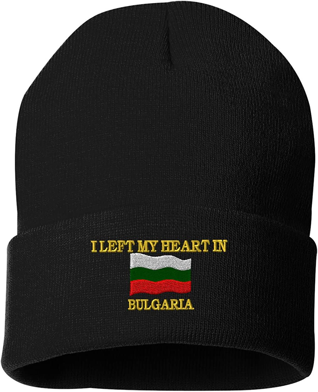 I LEFT MY HEART IN BULGARIA Custom Personalized Embroidery Embroidered Beanie