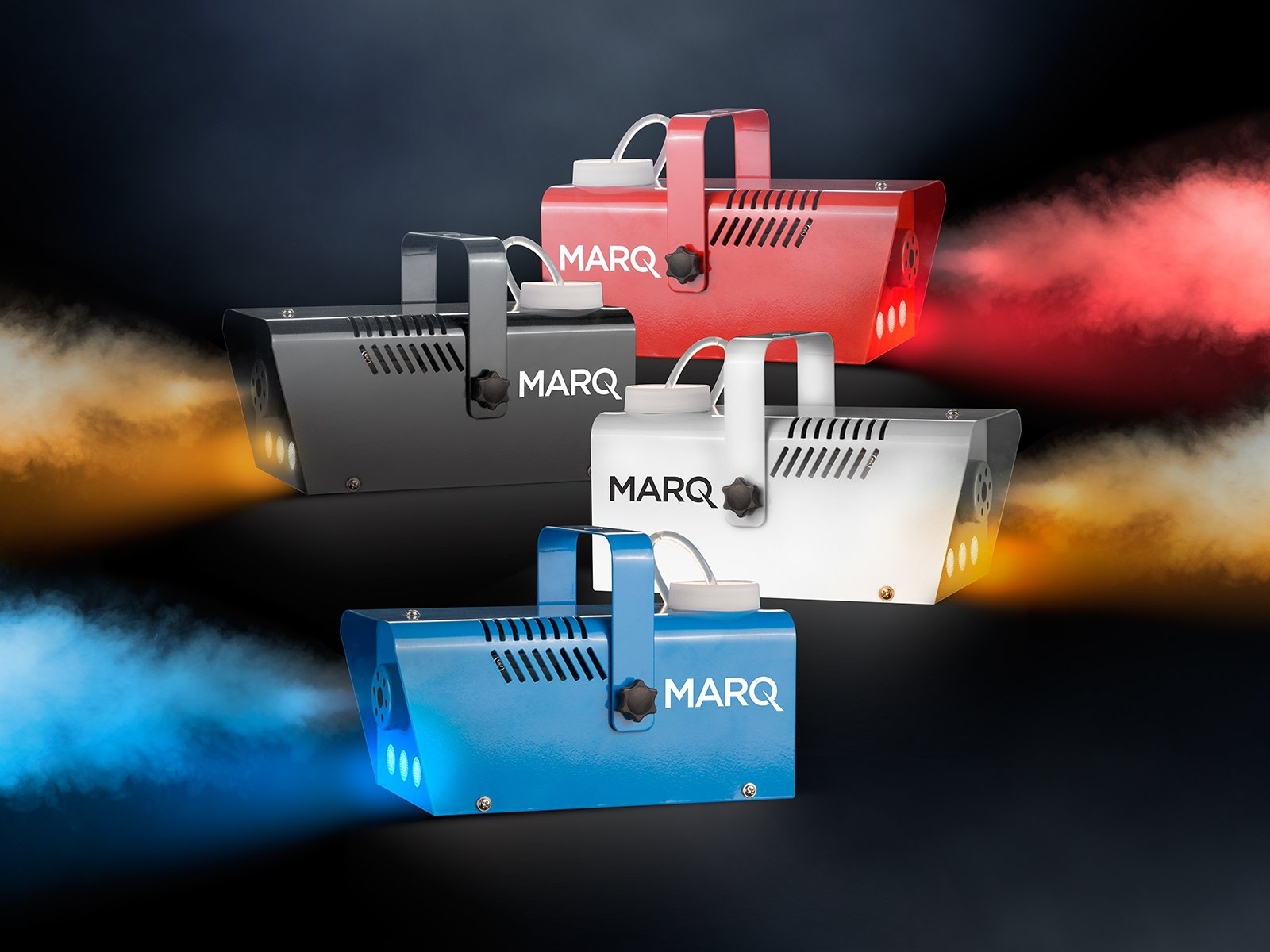 MARQ Fog 400 LED | 400W Water-Based Special Effects Fog Machine with Red-Color LED Lights (Red)