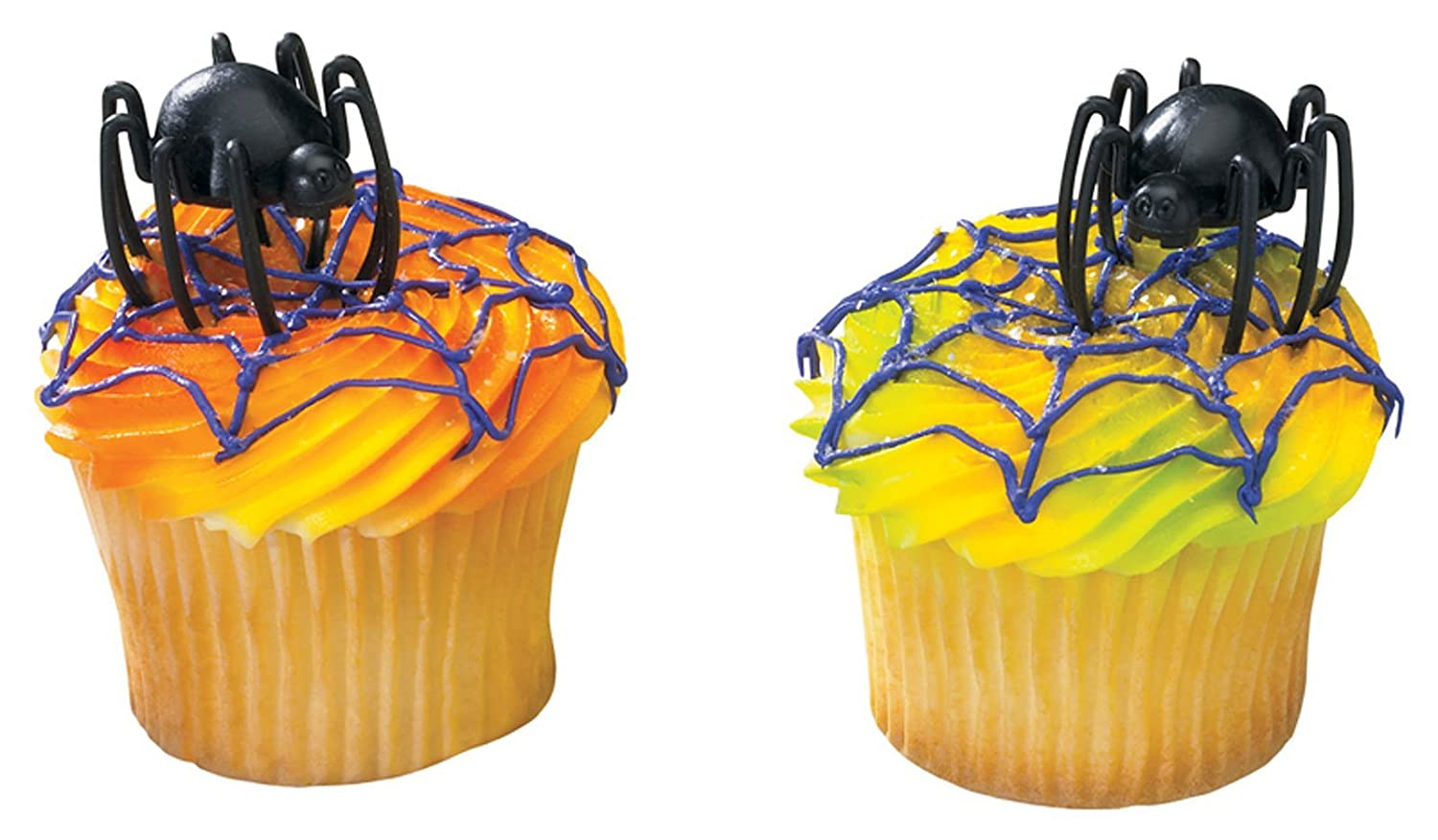 12 Plastic Hunchback Spider Cupcake or Cake Lay on Decoration