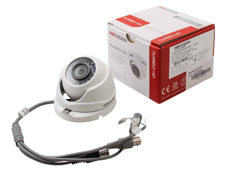 Hikvision Turbo HD TVI cámara casa sistema de seguridad CCTV de cúpula de 4, 1080 P, con 20 m de infrarrojos, 1 TB DVR de detección de movimiento, ...