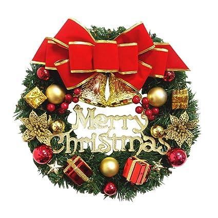 Ghirlande Di Natale.Ghirlanda Di Natale Ghirlanda Di Pino Decorato Buon Natale
