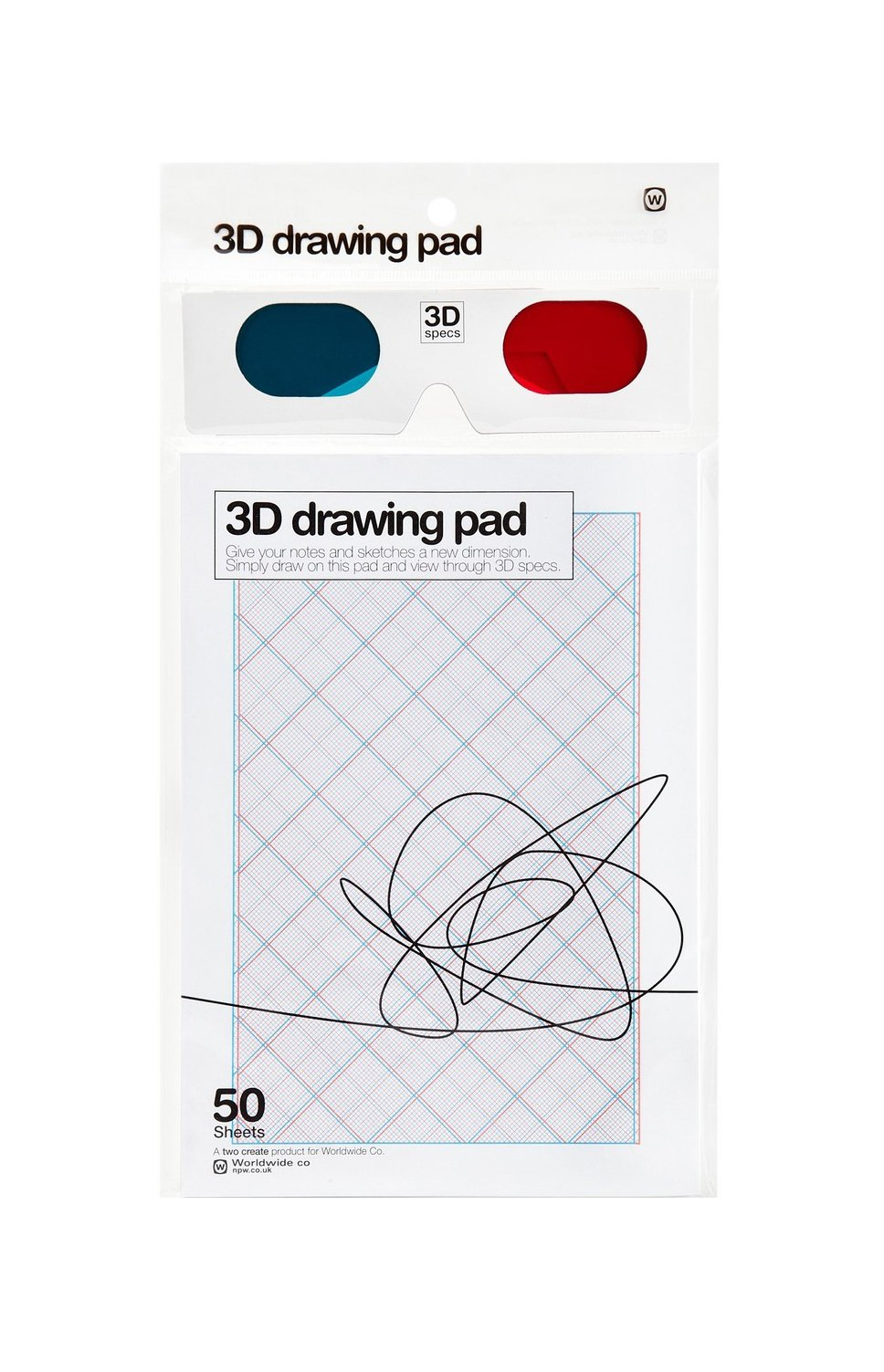 NPW-USA 3D Drawing Pad & Glasses Set by NPW