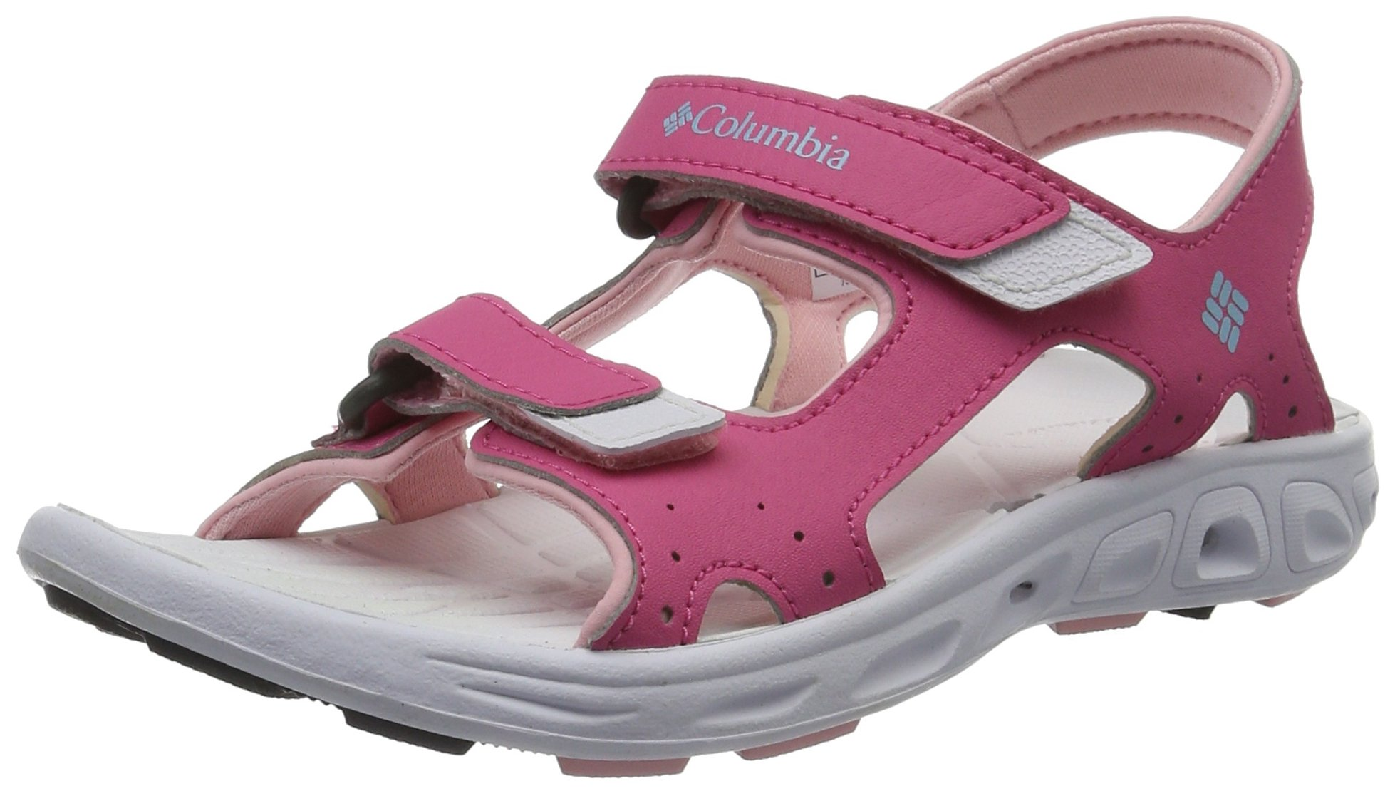 Columbia Unisex Youth TECHSUN Vent Sport Sandal, Wild Geranium, Cupid, 1 Regular US Little Kid