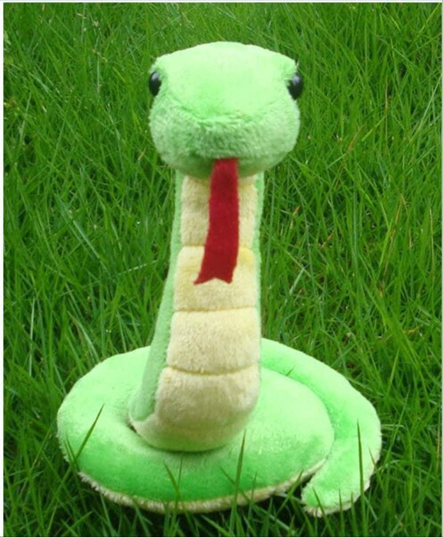 NC88 Juguete de Peluche de Serpiente de 17 cm, muñeca de Animal Verde, decoración del hogar, Parodia, Juguete para Mascotas para niños y niñas