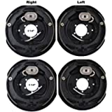 2 Sets 12x2 Electric Trailer Brake Assembly for 7000 lb Axle Trailers 12'x2'
