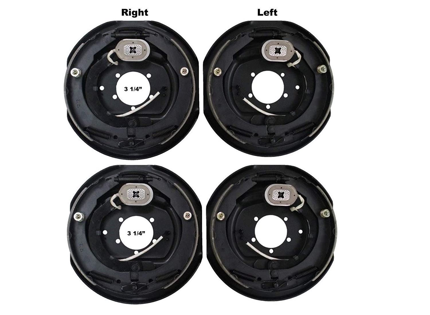 2 Sets 12x2 Electric Trailer Brake Assembly for 7000 lb Axle Trailers 12x2