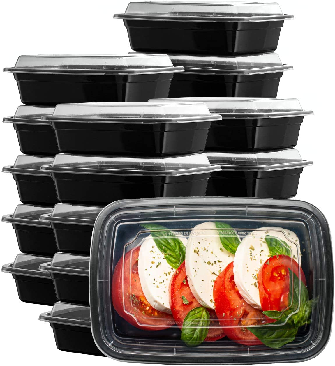 [50 Sets - 24 oz.] Meal Prep Containers With Lids, 1 Compartment Lunch Containers, Bento Boxes, Food Storage Containers