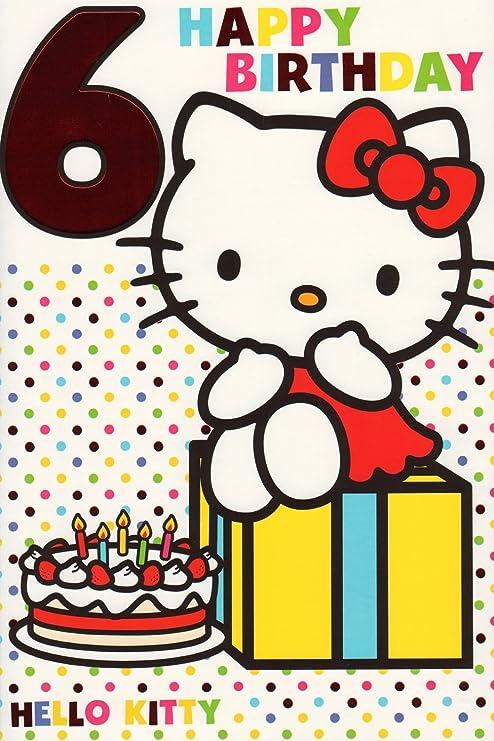 6th Tarjeta de cumpleaños - 6 Tarjeta de felicitación de ...