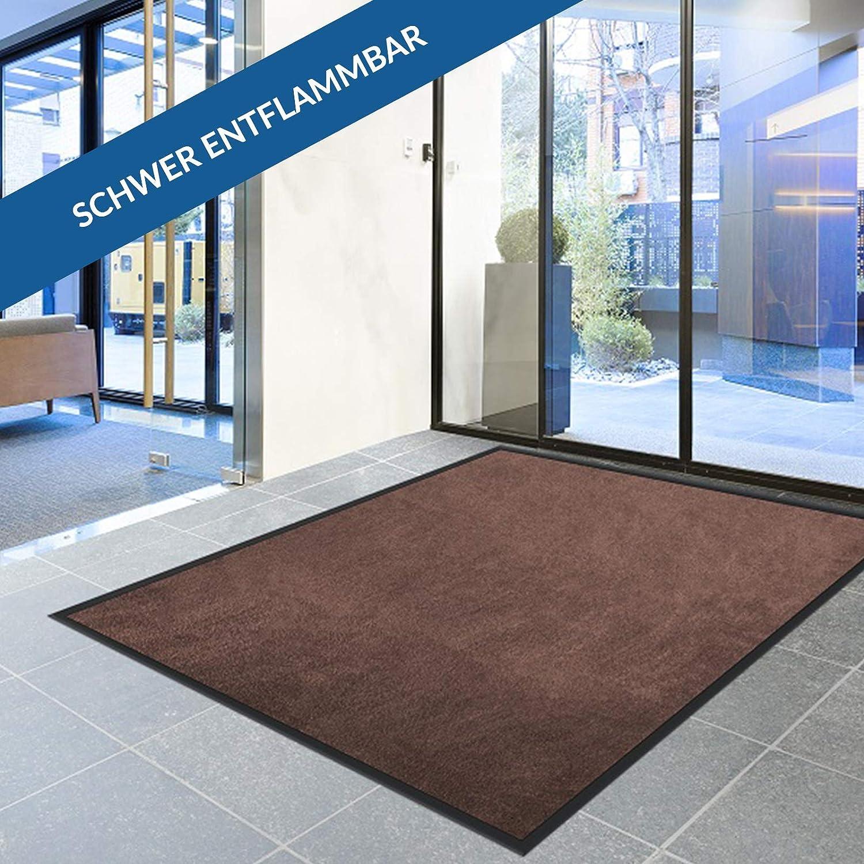 Sauberlaufmatte Brillant für Eingangsbereiche   BiFarbe     Objektqualität   saugstarke Schmutzfangmatte aus Polyamid   rutschfest   waschbar   zahlreiche Größen   viele Farben (Blau, 135x200 cm) B07MZ7B4H9 Fumatten 3b82c4