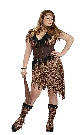 69a657668d Amazon.com  Forum Novelties Women s Plus-Size Cave Beauty Costume ...