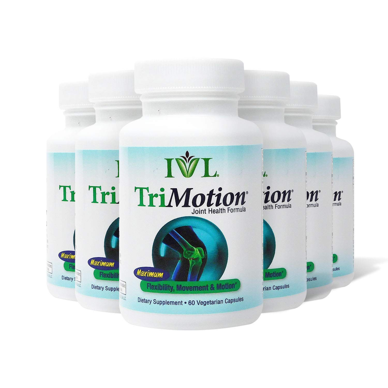 IVL TriMotion Joint Health Support Supplement, 60 Capsules per Bottle (Pack of 6) by IVL