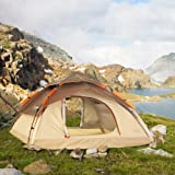 ZOMAKE Waterproof Automatic Camping Tent 2 3 4 Person - 4 Season Backpacking Tent Portable Dome Quick Up Tent