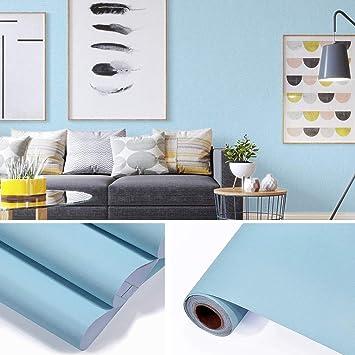 Fancy Fix Wallpaper Selbstklebende Wasserfeste Folie Aus Hochwertigem Pvc Aufkleber Für Küchenschränke Möbelfolie Dekorfolie 61x300cm Blau
