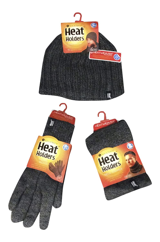 Heat Holders - Uomo invernale autunno termico in pile cappello, scaldacollo e guanti set HHMS-314815