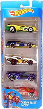Hot Wheels Dragon Blast - 5-Pack -DVF90: Amazon.es: Juguetes y ...