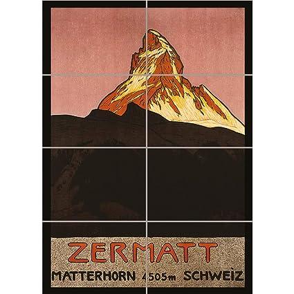 Doppelganger33 Ltd Travel Matterhorn Mountain Zermatt Switzerland Alpine Snow Arte de la Pared Multi Panel de