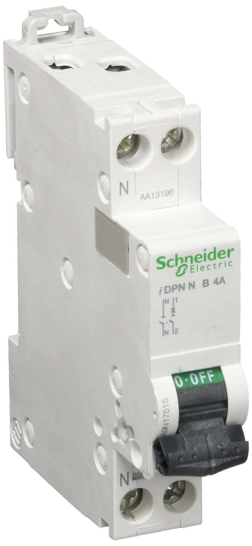 Schneider A9 N17515 Circuit Breaker –  IDPN –  1P + N, 4 A, B Characteristic 4A A9N17515