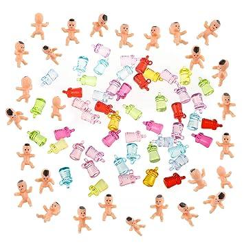 100 stücke 1 inch Mini kunststoff baby kinder Supplies für Babyparty und Spiel