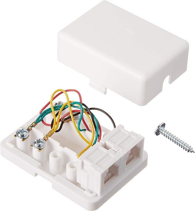 LOT OF 10 GC ELECTRONICS 30-8769-BU TELEPHONE flush mount WALL PLATES White